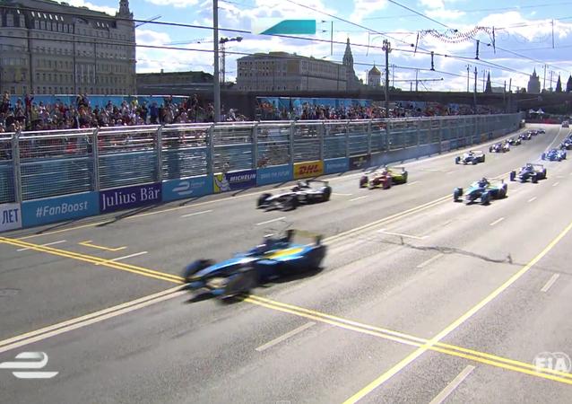 Závody Formule E v centru Moskvy
