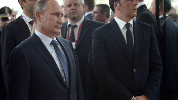 Návštěva Vladimira Putina v Itálii - Sputnik Česká republika