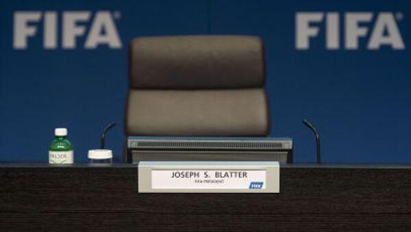 Prázdné křeslo prezidenta FIFA Seppa Blattera - Sputnik Česká republika