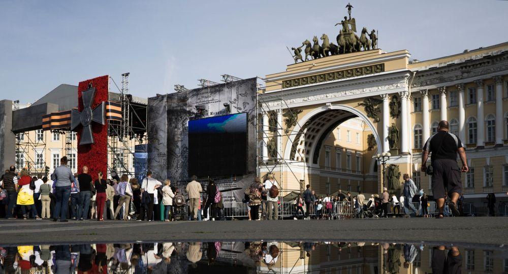 Palácové náměstí v Petrohradu