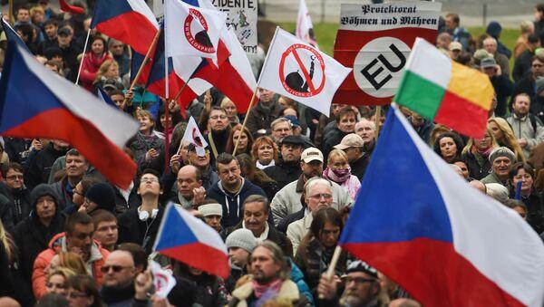 Protestní akce proti migrantům v Praze - Sputnik Česká republika