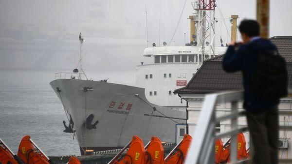 Parník Man Gyong Bong ve Vladivostoku - Sputnik Česká republika