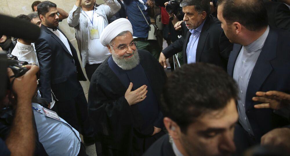 Úřadující íránský prezident Hasan Rúhání