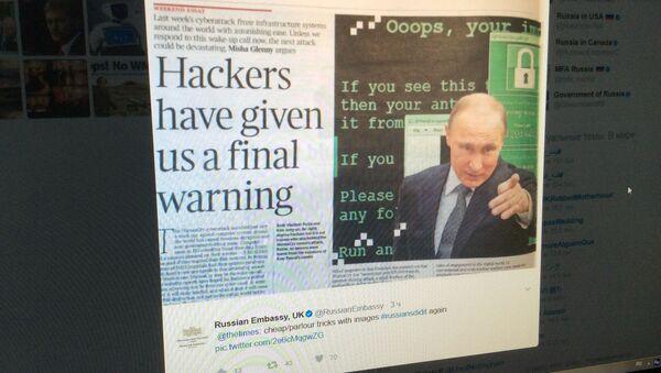 Screenshot z účtu velvyslanectví Ruska v Británii - Sputnik Česká republika