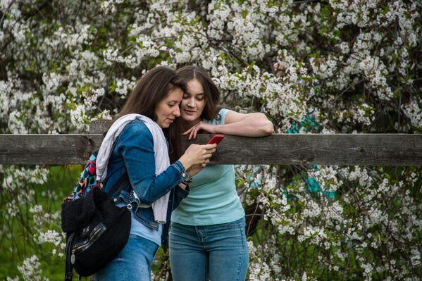 Kvetení jabloní v moskevském parku Kolomenskoje - Sputnik Česká republika