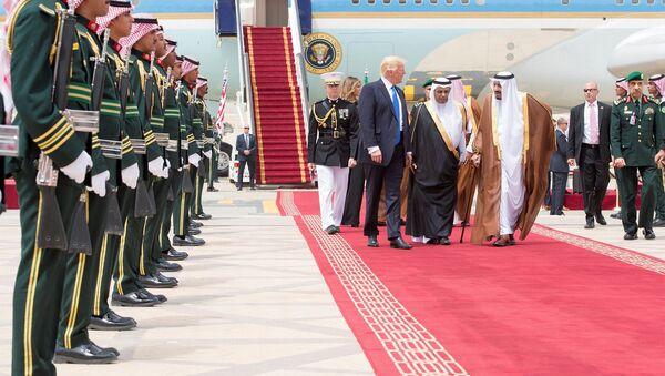 Prezident USA Donald Trump během návštěvy Saúdské Arábie - Sputnik Česká republika
