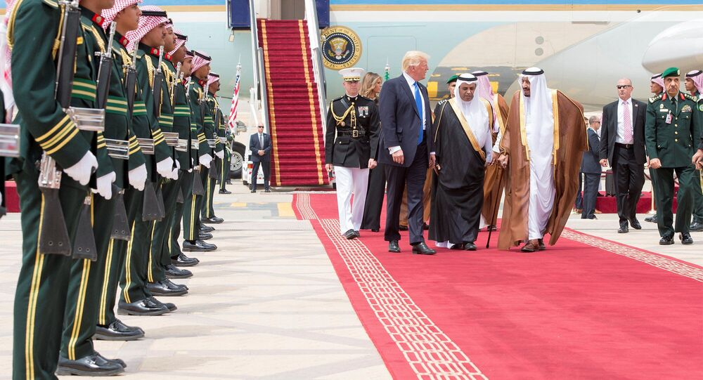 Prezident USA Donald Trump během návštěvy Saúdské Arábie