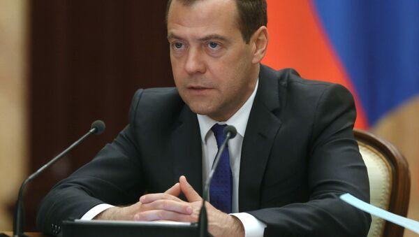 Председатель правительства РФ Дмитрий Медведев проводит заседание правительственной комиссии по вопросам социально-экономического развития Дальнего Востока и Байкальского региона - Sputnik Česká republika