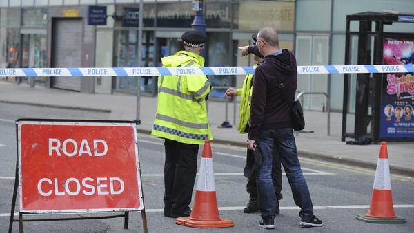 Policie na místě výbuchu v Manchesteru - Sputnik Česká republika