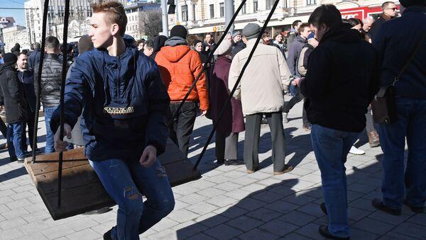 Protestní akce v Moskvě - Sputnik Česká republika
