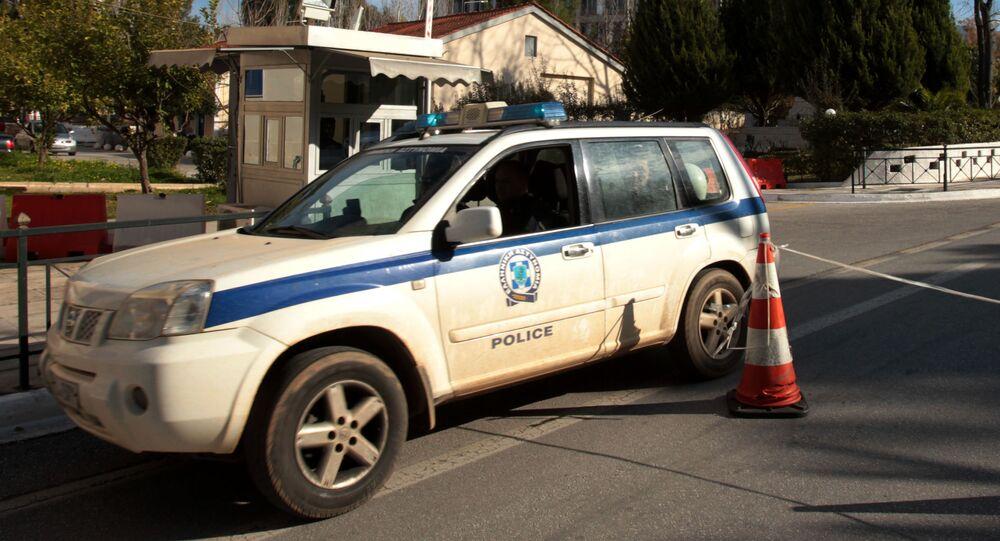 Policejní auto v Řecku