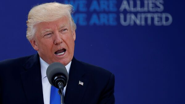 Americký prezident Donald Trump v Bruselu - Sputnik Česká republika