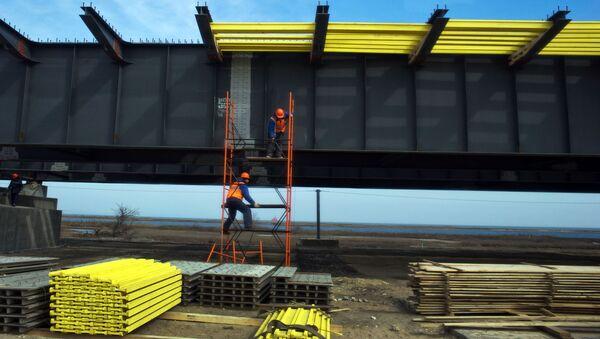 Výstavba Krymského mostu - Sputnik Česká republika