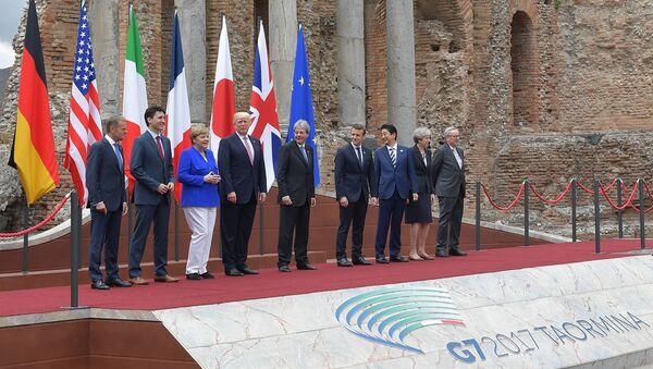 """Lídři """"Velké sedmičky"""" v Taormině - Sputnik Česká republika"""