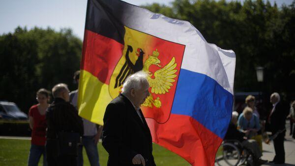 Kombinace ruské a německé vlajky, Berlín - Sputnik Česká republika