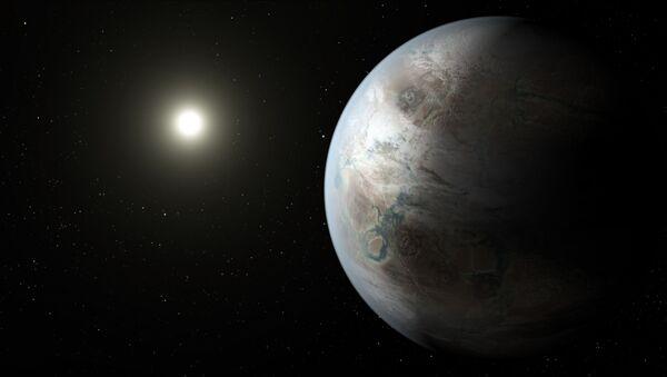 Exoplaneta Kepler-452b v podání malíře - Sputnik Česká republika