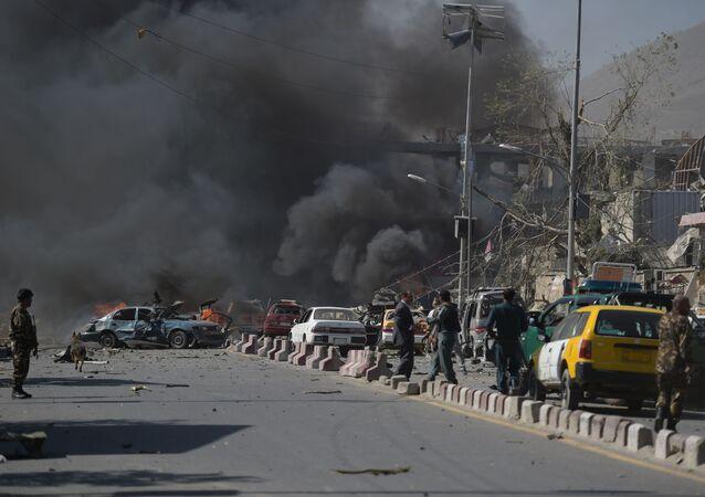 Místo výbuchu v Kábulu, Afghánistán
