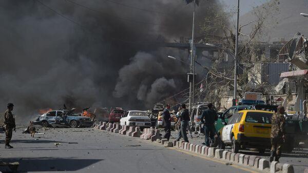 Místo výbuchu v Kábulu, Afghánistán - Sputnik Česká republika