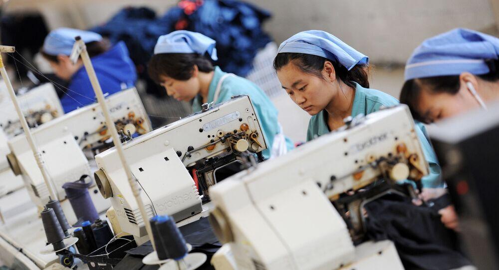 Čínská továrna. Ilustrační foto