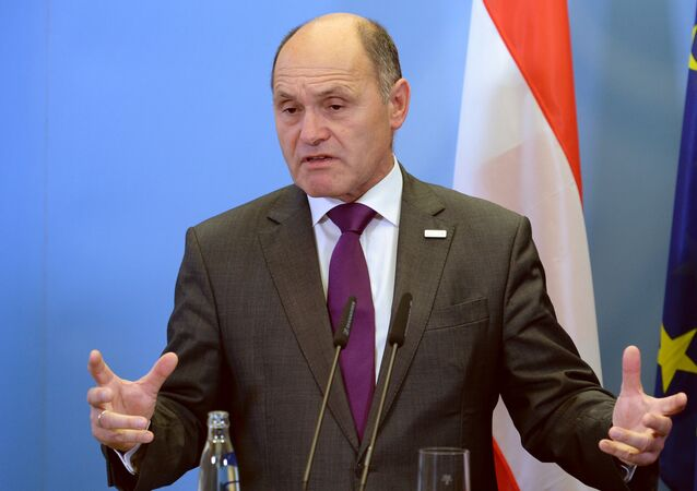 Rakouský ministr vnitra Wolfgang Sobotka