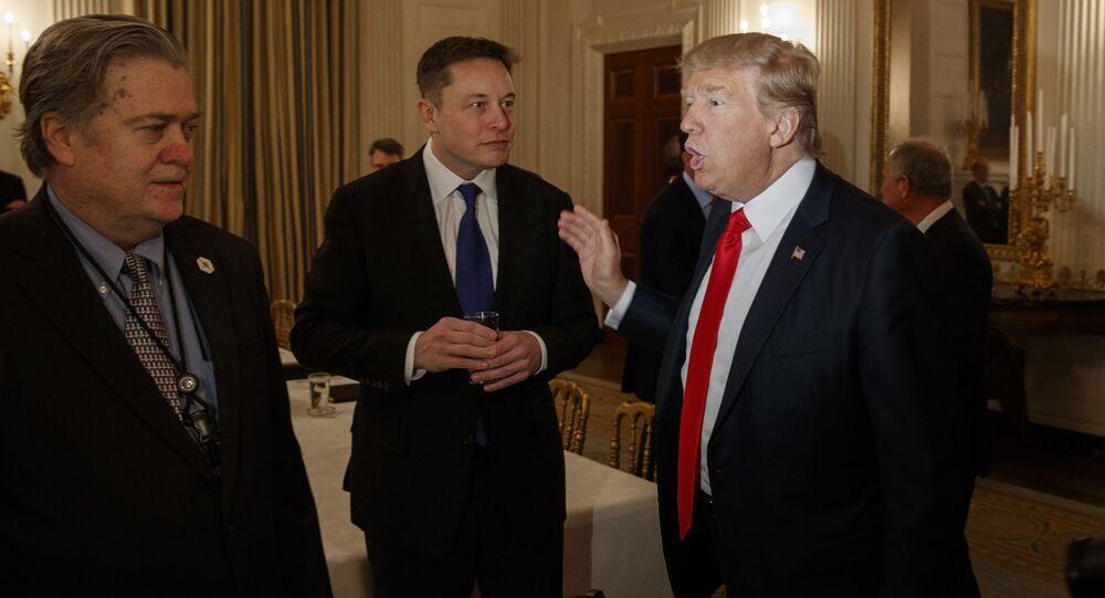 Elon Musk a Donald Trump