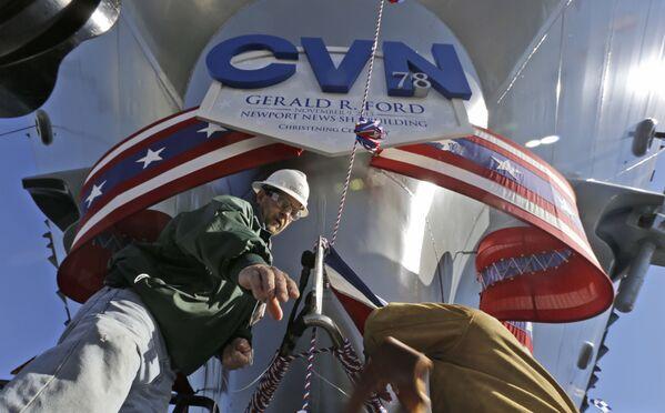 Nejdražší letadlová loď na světě Gerald Ford - Sputnik Česká republika