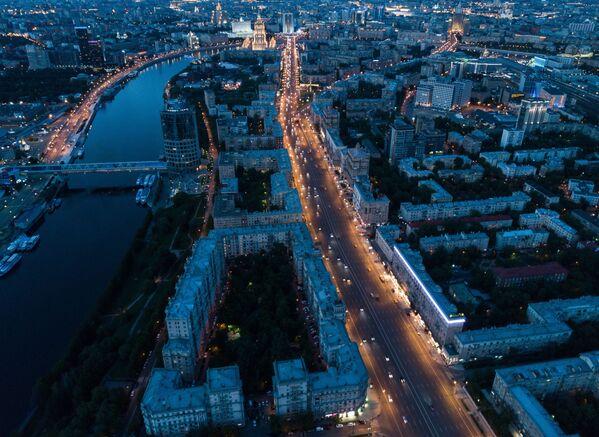 Pohled na Moskvu z ptačí perspektivy - Sputnik Česká republika