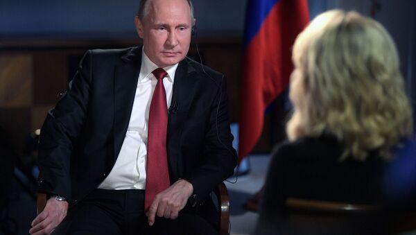 Vladimir Putin a Megy Kellyová - Sputnik Česká republika