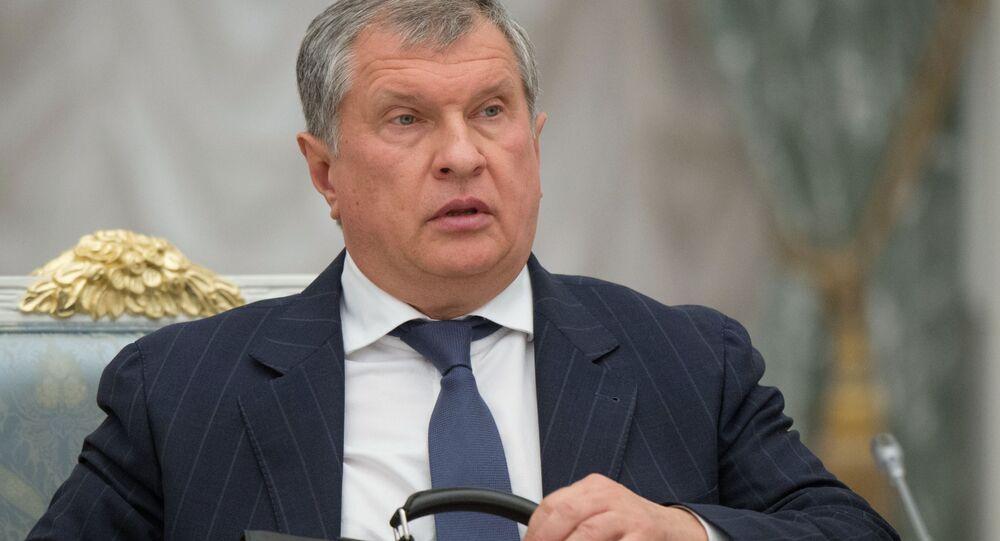 Hlava společnosti Rosněfť Igor Sečin