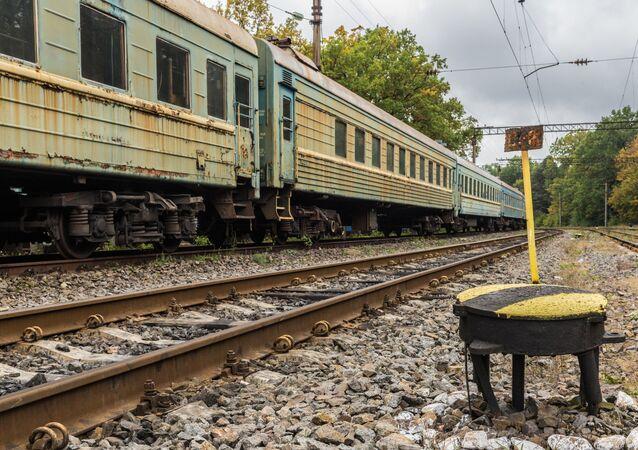 Starý vlak na Ukrajině. Ilustrační foto