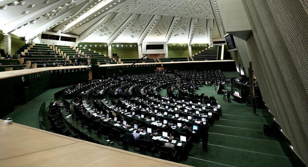 Íránský parlament v Teheránu