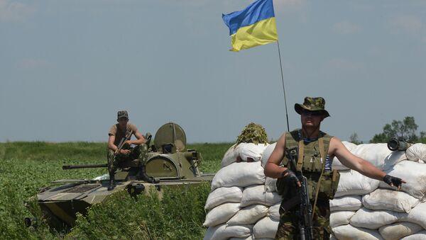 Kontrolní stanoviště  ukrajinských vojáků - Sputnik Česká republika