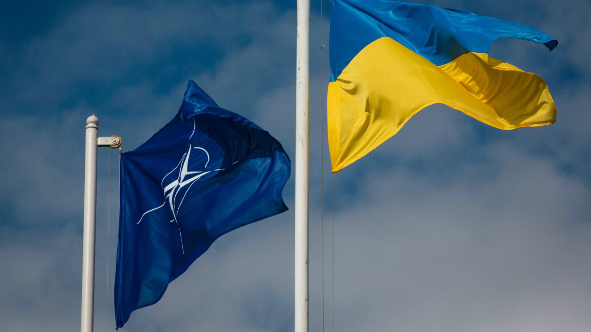 Vlajky NATO a Ukrajiny - Sputnik Česká republika, 1920, 19.06.2021