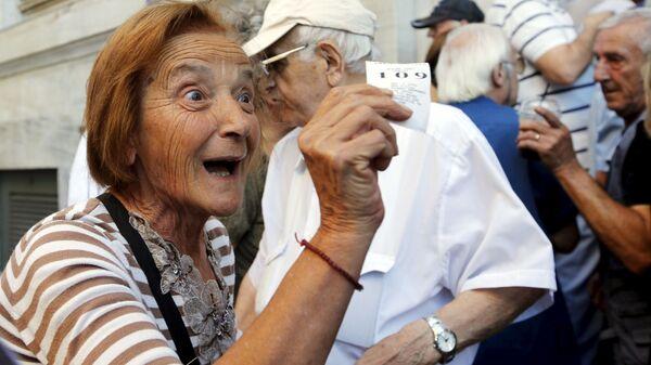 Řečtí důchodci - Sputnik Česká republika