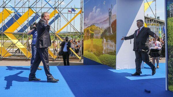 Ukrajinský prezident Petro Porošenko během slavnostního zahájení bezvízového režimu s EU - Sputnik Česká republika