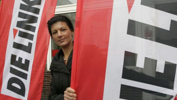 Německá politička Sahra Wagenknecht - Sputnik Česká republika