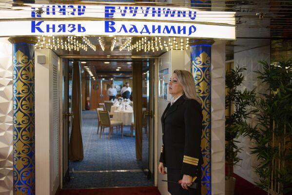 Restaurace na palubě výletní lodí Kníže Vladimir - Sputnik Česká republika