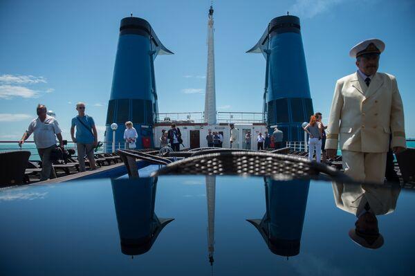 Cestující na palubě výletní lodi Kníže Vladimir - Sputnik Česká republika