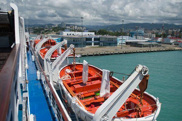 Záchranné čluny na palubě výletní lodí Kníže Vladimir - Sputnik Česká republika