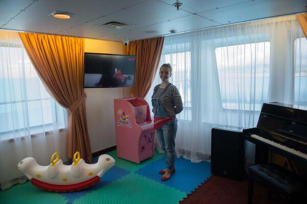 Dětský koutek na palubě výletní lodí Kníže Vladimir - Sputnik Česká republika