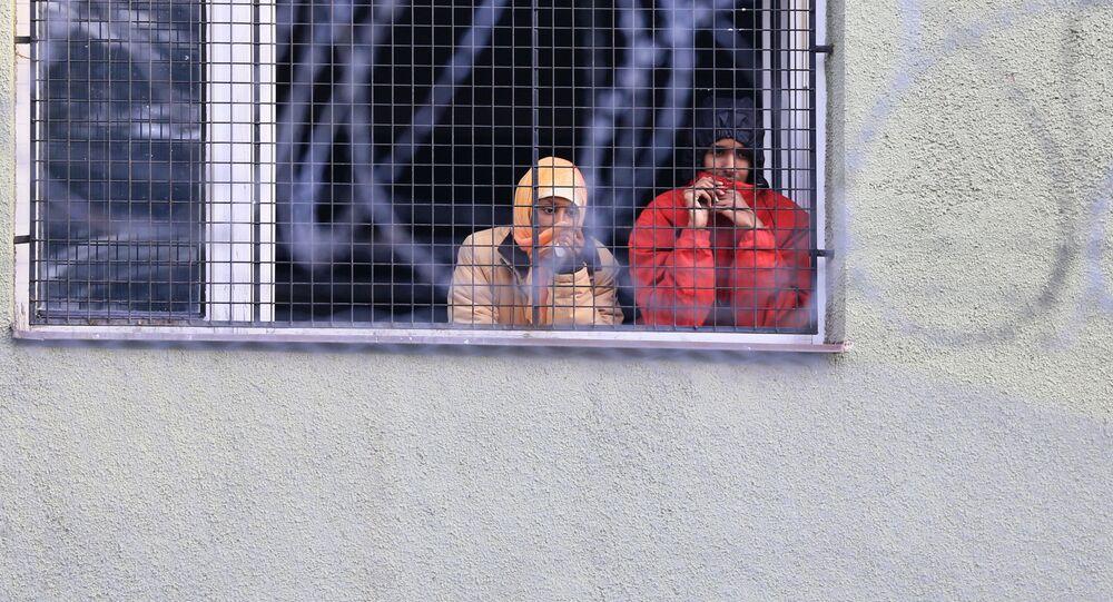 Migranti v Bělé-Jezové