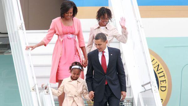 Americký prezident Barack Obama s rodinou - Sputnik Česká republika