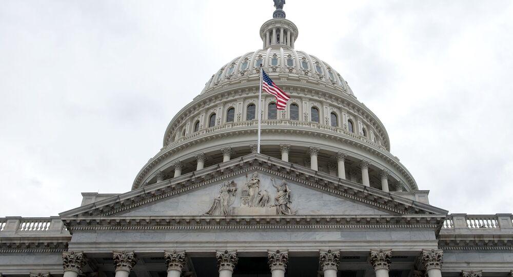 Pohled na americký Kapitol