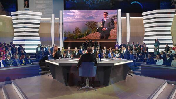 Přímá linka s Vladimirem Putinem - Sputnik Česká republika