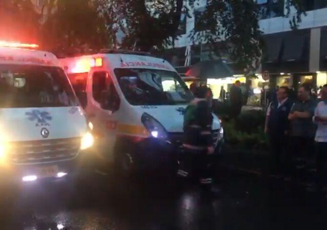 Na internetu se objevily záběry z místa teroristického útoku v Bogotě