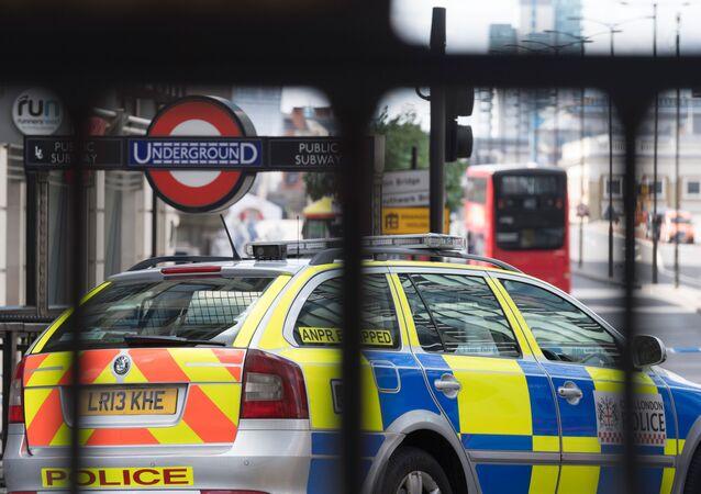 Policejní vůz v Londýně
