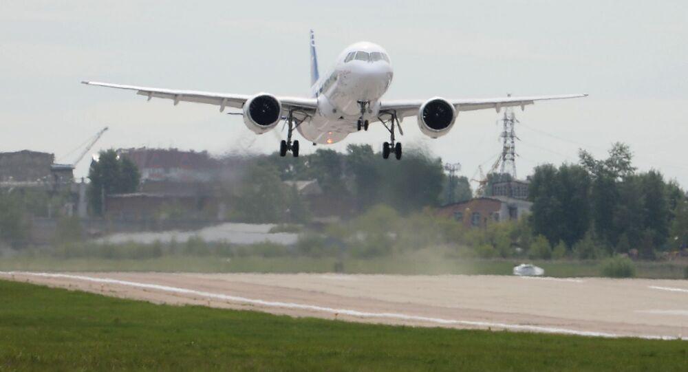 První let ruského dopravního letadla MS-21. Ilustrační foto