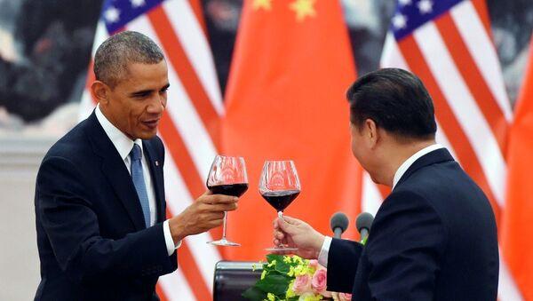 Americký prezident Barack Obama a jeho čínský protějšek Si Ťin-pching - Sputnik Česká republika