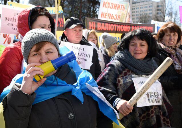 """Mitink """"Úvěrového Majdanu"""" v Kijevě"""