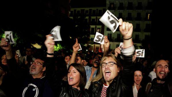 Přívrženci opoziční strany Podemos - Sputnik Česká republika